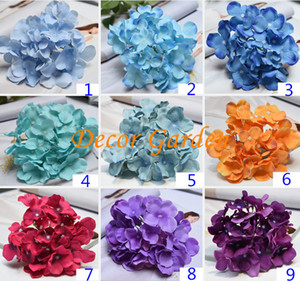21 colors DIA15cm simulation hydrangea head decorative wall flower artificial garland accessories for the wedding holiday party wholesale