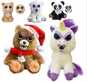 얼굴 변경 Feisty 애완 동물 동물 봉 제 장난감 만화 원숭이 유니콘 아기를위한 박제 동물