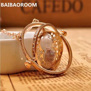 Tiempo collar reloj de arena colgante vintage Hermione Granger para mujer dama chica venta al por mayor
