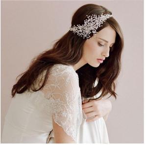 Venda quente nova noiva artesanal headwear, estilo europeu e americano, estética de cabelo de cristal de jóias de noiva por atacado.