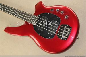 무료 배송 실제 사진 뜨거운 판매 고음질 액티브 픽업 뮤지션 Bongo red 4 String Music Man Electric Bass Guitar