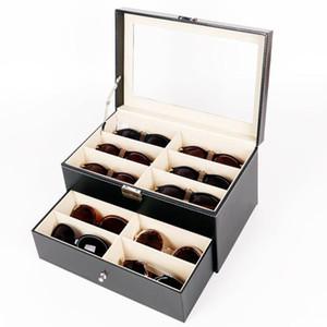 Siyah Sunglassses için Iki Katmanları Nişan Gözlük Kutusu Depolama Ünlü Marka Tasarlanmış Kutusu sevgililer Günü için Gözlük Vaka Hediye Vaka