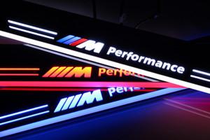 2011-2015에서 BMW X1 E84에 대 한 2X 사용자 지정 LED 실행 자동차 장식 액세서리 문턱 스커프 접시 환영 페달 빛