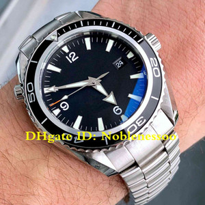 6 Style Luxury Mens Watch Planet Ocean Co-Axial 600M 2200.50 Professional Black Dial Steel James Bond 007 Asia 2813 Automatic Men's Watches