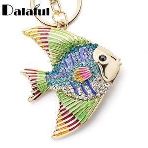 Neue mode tropische fische schlüsselanhänger schlüsselanhänger multicolor emaille kristall goldfisch schlüsselanhänger halter tasche anhänger für auto k366