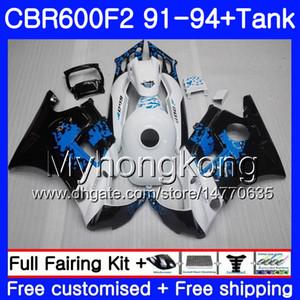 Corpo per HONDA CBR 600F2 FS CBR600RR CBR600 F2 91 92 93 94 1MY.0 CBR600FS CBR 600 F2 CBR600F2 1991 1992 1993 1994 Kit carenatura Graffiti blu
