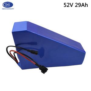52V 29Ah Lityum Batarya Paketi 14S10P 18650PF 2900mAh Li Ion Üçgen 52V Ebike Pil İçin 2000W 1500W Elektrikli Bisiklet Scooter