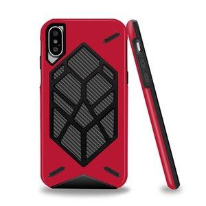 2 en 1 caso delgado Defensor armadura duro caja de la PC TPU de cuerpo completo para el iPhone 11Pro Max X XS Max XR 8 7 6S Plus Samsung S9 Plus
