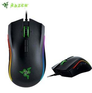 Razer Mamba Tournament Edition Gaming Mouse 16000 DPI Chroma مريح اليد اليمنى الصف لعبة الفأرة المشبك 2.0 مع حزمة
