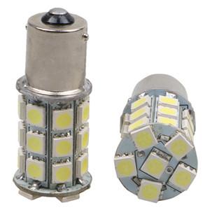 4X 12V auto del LED freno dell'automobile della lampadina 1156 Ba15s P21W 27SMD 27 SMD 5050 Attivare backup della parte finale del segnale della luce rossa Bianco auto styling