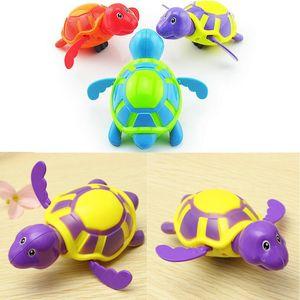 2018 신생아 CutecTortoise 아기 목욕 장난감 수영 거북이 체인 시계 클래식 아이 교육 재미 있은 장난감 생일 선물