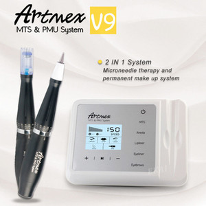 Artmex V9 New Model Digital Eyebrow Lip Eyeline MTS PMU Digital Professional Permanent Makeup Tattoo Machine Rotary Pen DHL