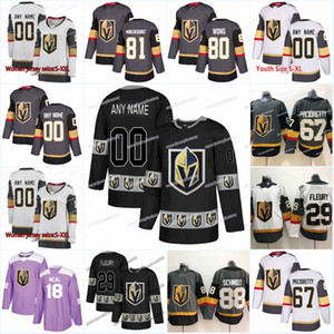 New Season Vegas Golden Knights 55 Keegan Kolesar 75 Ryan Reaves 19 Reilly Smith 89 Alex Tuch 80 Tyler Wong 45 Jake Bischoff الهوكي الفانيلة