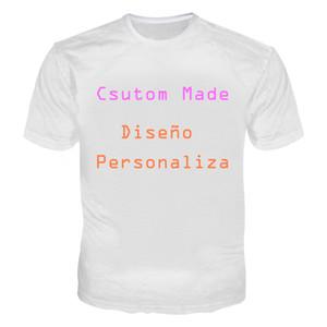 3D Personalizado Tshirt Dos Homens Das Mulheres Camisas de T de Impressão Por Atacado 3D Casual Tees Tops T-Shirt Plus Size 5XL Diseño