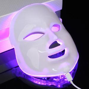 7color coreano LED fotodinâmica Máscara Facial Uso Doméstico Beleza Instrumento Anti acne pele Máscara de Rejuvenescimento LED fotodinâmica cara da beleza