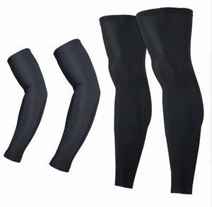 Hombres Mujeres Protección UV MTB Bicicleta Ciclismo Calentadores del brazo + Calentadores de la pierna Deportes Running Sun Arm Sleeves Leggings