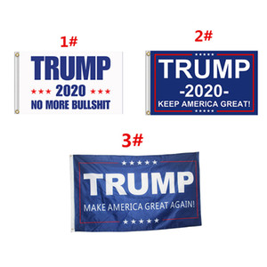 Trump Flag 2020 Keep America Great Again Banner Decor Presidente USA Donald Trump Elezione No More Bullshirt Flag 3 * 5 piedi 90 * 150cm MMA727 30