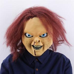 I puntelli di film Chithua Latex Mask gioco da ragazzi Maschera del 50% di Halloween Cosplay Accessori Bar Dance Party Terrorist Copricapo