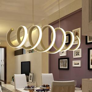 Luces colgantes de acrílico de aluminio de la lámpara led para el hogar que usa la oficina que usa la barra de la cocina del comedor que cuelga el accesorio colgante llevado de la lámpara