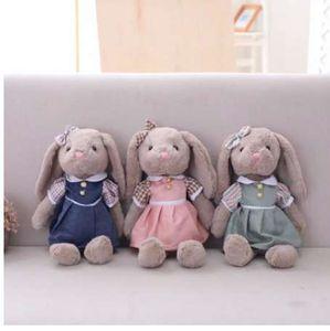 어린이를위한 Miaoowa 1pc 35cm 만화 래빗 플러시 장난감 스커트와 부드러운 동물 인형 어린이 소녀 생일 선물 아기 인형