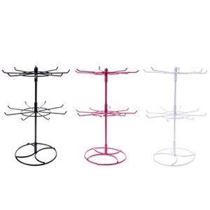 Vente chaude En Métal Collier Chaîne Bracelet Rotation affichage Titulaire de la mode 2 niveaux Bijoux Présentoir Rack Foulards Cravate Perruque Bracelet Hanger