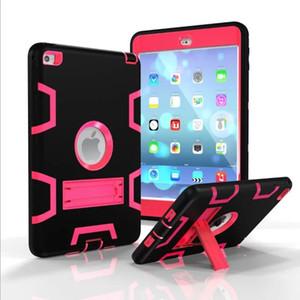 Kickstand Defender Estuche para iPad mini 1 2 3 4 Air 2 Pro 9.7 2017 2018 Estuche resistente a los golpes Military Heavy Duty Stand Cover Skin