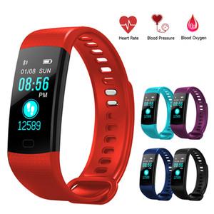 Y5 سوار ذكي معصمه اللياقة البدنية المقتفي لون الشاشة معدل ضربات القلب النوم عداد الخطى الرياضة للماء تعقب النشاط لفون سامسونج