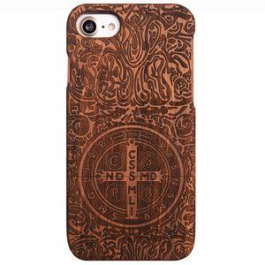 Für iPhone xiphone7plus / 8plus iPhone7 / 8 Fall, Holzetui Einzigartige echte natürliche Rose Holz Case harten Bambus Shockproof Case (Constantine)