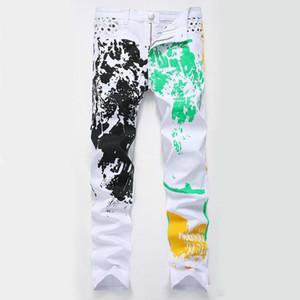 Baixo Preço Homens Robin Jeans Alta Moda Elástica Mens Mutilcolor Designer Jeans Calça Casual Slim Branco Demin Homem Compras