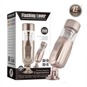Nuevo amor fácil Telescopic Flashing Lover Masturbator inteligente máquina automática del sexo, RotatingRetractable Male Masturbators eléctricos, juguetes sexuales