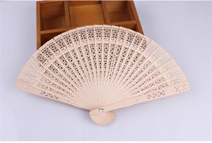 New Chinese Aromatic Wood Pocket Pieghevole tenuto in mano Fans Elegent Home Decor Party Favors SN514