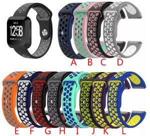Banda de silicona deportiva fitbit versa / versa correa lite bandas de color accesorios inteligentes reloj pulsera clásica correas de muñeca
