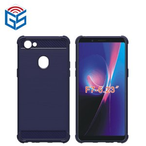 Para Oppo F7 mate cubierta posterior del teléfono celular Gel suave Anti huella dactilar TPU alta calidad
