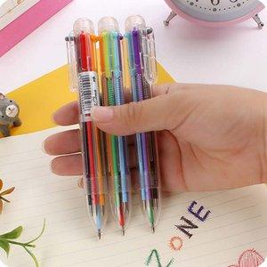 12 unids / lote Divertido 6 Colores Pluma DIY Lápiz de Dibujo A Lápiz Conjunto para Niños Niños Party Loot Bag Fillers Party Supplies