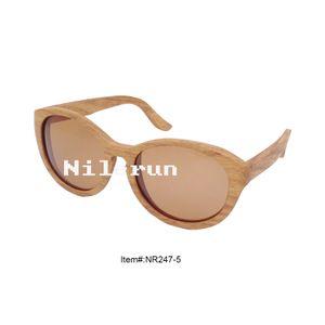 unique handmade big oval shape brown wooden sunglasses