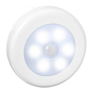 Infrarouge PIR détecteur de mouvement 6 Led Night Light sans fil détecteur de lumière mur Lampe automatique Marche / Arrêt Closet batterie d'alimentation