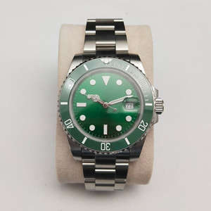 SUB 40mm Green sterile luminous dial sapphire crystal ceramic bezel date miyota 8215 Automatic movement men's watch