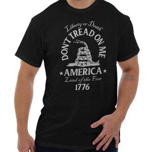 No me pises en la bandera de la serpiente de Gadsden Política T Usa Patriot T Shirt Hip Hop Ropa Camiseta de algodón de manga corta
