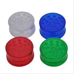Multicolor três camada de mão de plástico moedor de fumaça, metal fumaça moedor de diâmetro 40mm plástico isqueiro