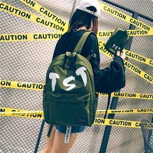 Tasarımcı-Öğrenci Paketi Sırt Çantası Yaz New College Rüzgar Kadın Çantaları Genç Okul Tide Rüzgar Tuval Kadın kişilik Sırt Stil # 2125