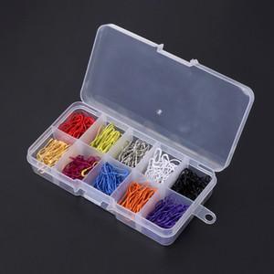 안전 핀 호리병박 조롱박 모양 300pcs / set 다채로운 호리병박 조롱박 모양 꼬리표 Craft Safety Pins Craft with Case