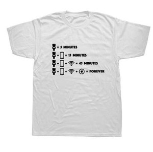 Tee-shirt à manches courtes pour hommes Tee shirt à manches courtes Wifi Geek Nerd Lazy Funny Tees T-shirts à manches courtes
