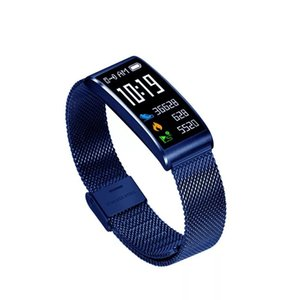 OTC Bluetooth bande en acier métal Smartwatch Montres Avec Altimètre Pour ios Android Smart Phone Regarder avec le paquet détail