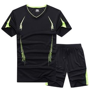 Männer Sportswear Sommer Training Übung Sets Wandern Laufen Fitness Schnell Trocken Atmungsaktive Top Kleidung Männlichen Sport Jacke Schwarz