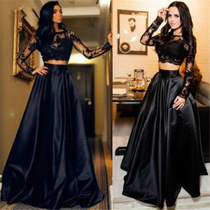 Women Ladies Lace Tops Bridesmaid Formal Party Dress Long Maxi Dresses High Waisted Long Sleeve EleOutfits 2PCS