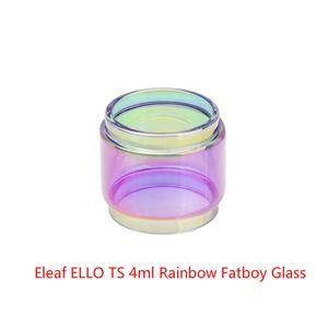 Vente en gros Eleaf ELLO TS 4 ml Expansion du réservoir Arc-en-Verre Pyrex DHL Gratuit Acheter pas cher Eleaf ELLO TS 4 ml tube en verre étendu Version Fatboy Bulb