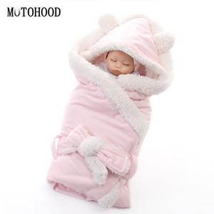 MOTOHOOD d'hiver garçons Bébés filles Blanket Wrap double couche Toison bébé Swaddle Sac de couchage pour Blanket Literie Nouveau-nés