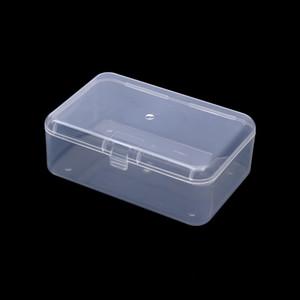 LINSBAYWU Caja de almacenamiento de plástico transparente Transparente Cuadrado Vitrina multiusos Top