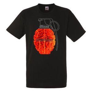 Clawfinger Use Your Brain Мужская Черная рок футболка Новые размеры S - Xxxl O Шея с короткими рукавами Мальчик Хлопок Мужчины
