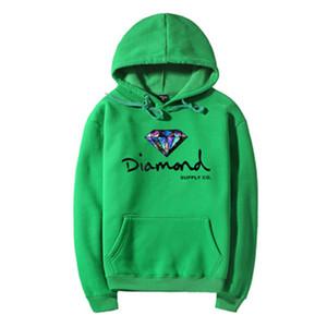 Polyester Diamant Supply Co Männer Paare Hoodie Straße Fleece Warm Sweatshirt Winter Herbst Velvet Hoodie Mode Hip Hop Primitive Pullover